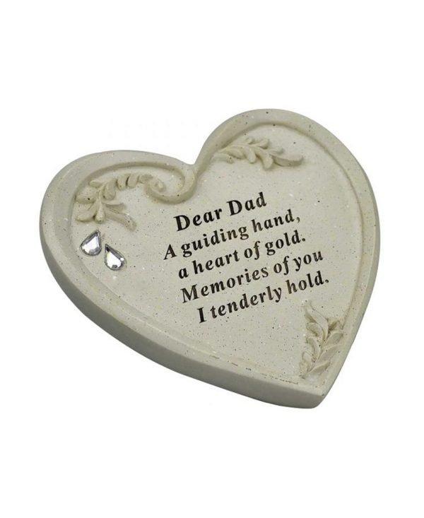 Dad-Memorial-Diamante-Textured-Heart-Graveside-Ornament