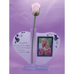 Gift For Daughter Photo Frame Glass Ornament