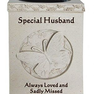Special Husband Butterfly Graveside Rose Bowl Memorial Vase Flower Pots Grave Ornament