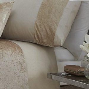 Boulevard Velvet Strip Quilt Duvet Cover and 2 Pillowcase Bedding Bed Set Oyster King