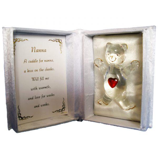 Nanna Crystal Heart Bear Cuddle In A Box New