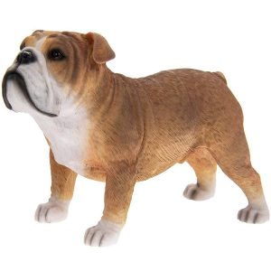 Fawn and White British Bulldog Ornamen Dog Figure - Ideal Gift for the Home