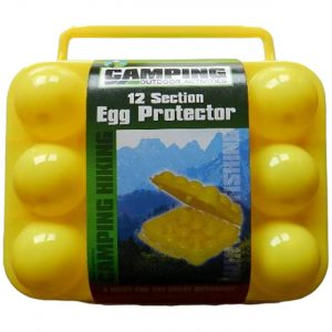 Portable 12 Eggs Slots Holder Shockproof Storage Box for Camping Hiking - Yellow