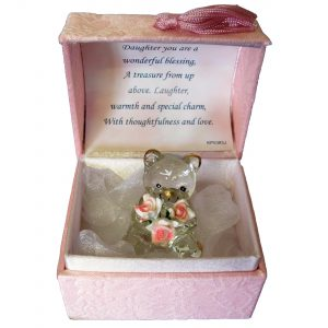 Gift Box for Daughter Crystal Bear In A Box
