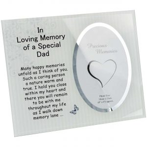 Dad Memorial Glass Mirror Photo Frame