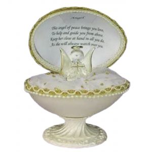Faberge Style Egg with Guardian Angel Poem Gift