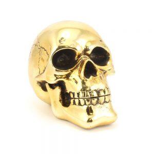 Leonardo Collection Gold Skull Decorative Figurine