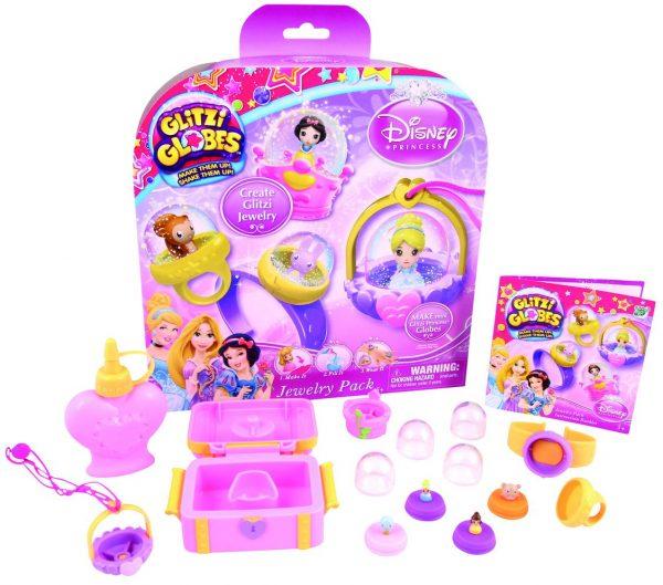 Glitzi Globes Disney Princess Jewelry 4 Characters Pack