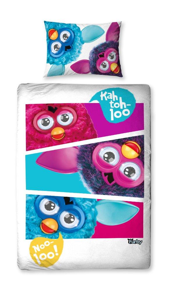 Character World 135 x 200 cm Furby Furbish Single Panel Duvet Set, Multi-Color