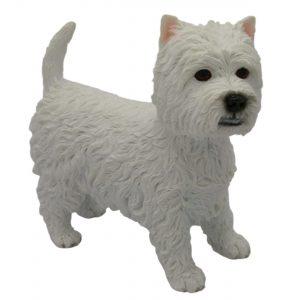 White Highland Westie Best of Breed Dog Figurine - Standing