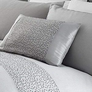 Modern Silver Sequined Decorative Luxury Soft Scatter Filled Oblong Cushion New
