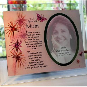 Inspirational Glass Poem Photo Frame Special Mum Mothers Day or Any Special Occasion Keepsake Present to Treasure Forever!