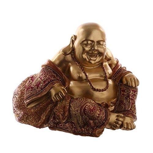 Buddha cinese seduto 22 cm Marrone effetto oro
