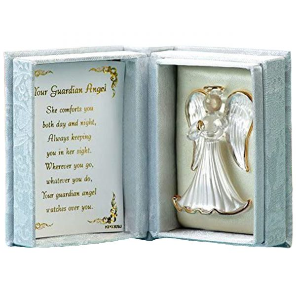 Gift Box Your Guardian Angel Box inside Poem Crystal Ornament