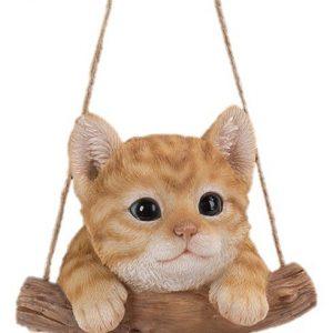 Rocking Kitten Vivid Arts Indoor and Outdoor Ornament