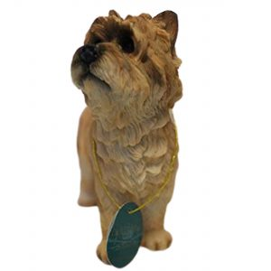 Lesser & Pavey Standing Cairn Terrier Ornament Dog Figure, Red