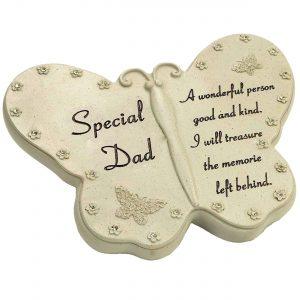 Special Dad Diamante Butterfly Graveside Grave Memorial Plaque Ornament