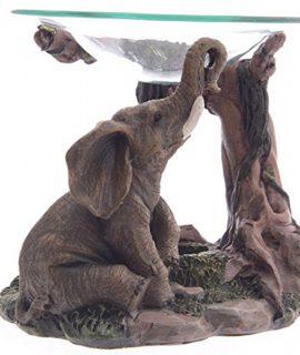 lotusandlime Oil Burner, Elephant Gray, 15 cm