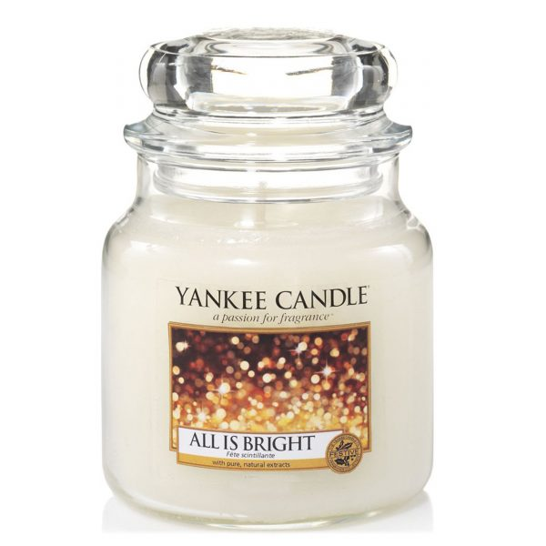Yankee Candle Medium Jar Candle, All is Bright