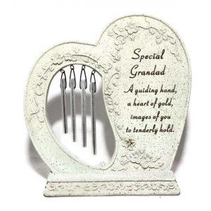 Special Grandad Windchime Heart Graveside Ornament