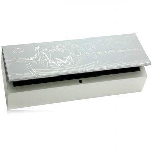 Stunning Noahs Ark Design Wooden Birth Certificate Holder