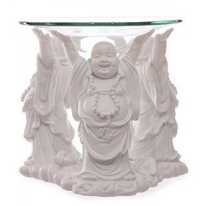 Puckator White Laughing Buddha Oil Burner 11cm