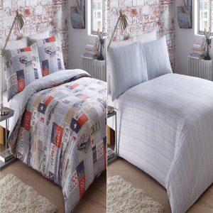 Bedmaker Road Trip Multi Double Duvet Cover Set