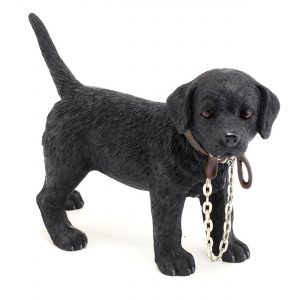 Black Labrador With Lead In Mouth - Walkies Dog Ornament