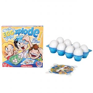 HTI Toys Traditional Games Eggzplode Family Board Game For Kids Adults Boys & Girls