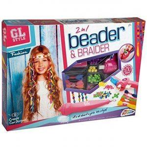 GL Style 2-In-1 Beader Braider Hair Girls Beading Braiding Set Kids Fashion Toy
