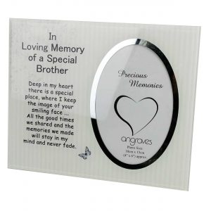 Brother Memorial Glass Mirror Photo Frame