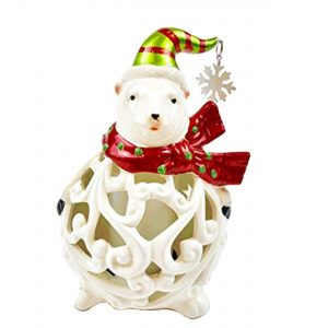Test Rite Products Flameless Candle Holder Polar Bear