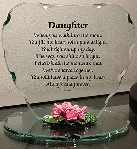 Glass Plaque Gift for Daughter Beautiful Poem a Lovely Plaque, Which Makes a Really Thoughtful Gift
