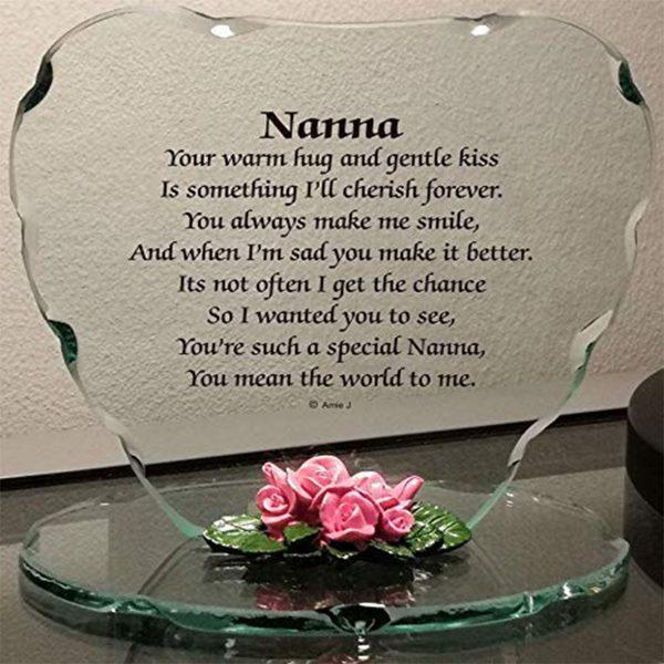 Glass Plaque Gift for Special Nanna