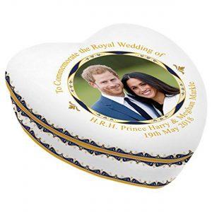 Royal Heritage H.R.H Harry and Megan Markle Wedding Commemorative Heart Shape Trinket Multi-Colour