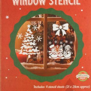 Christmas Window Stencils Home Spray Reusable