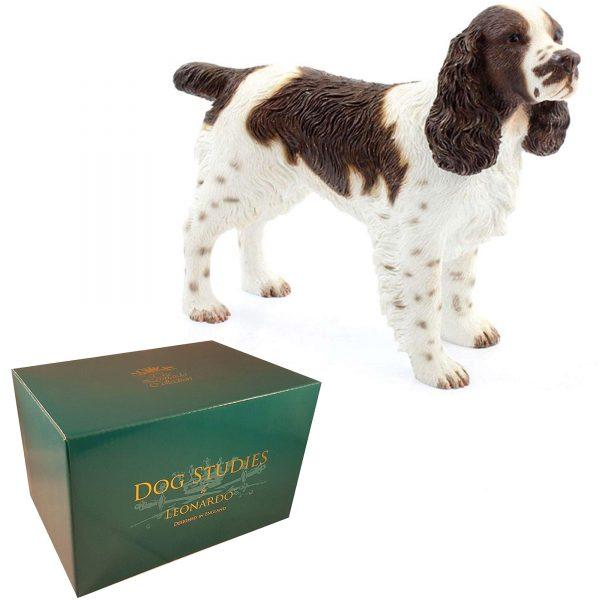 English Springer Spaniel Dog Figurine, Brown