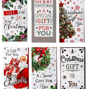 12 Traditional Assorted Christmas Money Envelopes Xmas Gift Cash Card Wallet