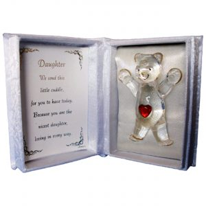 A Cuddle For you. Cuddle Box With Glass Teddy. Gift For Daughter - Teddy Bear