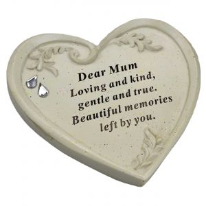 Special Mum Diamante Textured Heart Graveside Memorial Ornament Plaque