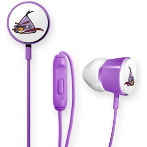 Gear4 Angry Birds Space Deluxe Tweeters In-Ear Stereo Headphones with In-Line Mic - Lazer Bird