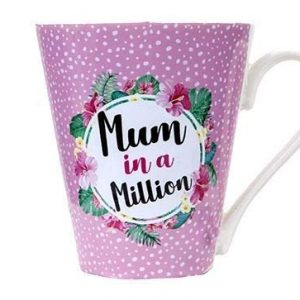 Mum in a Million V Shaped Mug 11oz Gift Mother's Day Party Drink Tea Coffee Present Celebration Birthday