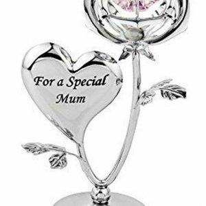 Crystal Ornament Gift Set Crystocraft Swarovski Crafted Beautiful Rose Ornament