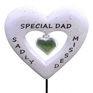 David Fischhoff Sadly Missed Special Dad Love Heart Memorial Tribute Stick Graveside Plaque