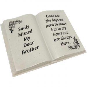 David Fischhoff Brother Floral Design Diamante Memorial Book, Poly Resin Cream, 19.5 x 7.5 x 13 cm