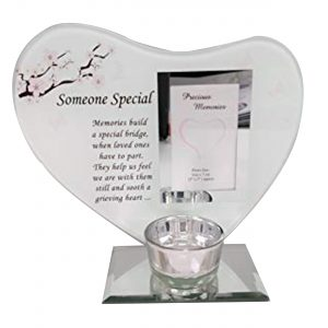 David Fischhoff Someone Special Heart Message Plaque Photo Frame T-lite Holder The Little One We Longed for was Swiftly Here and Gone