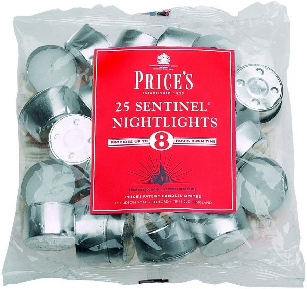 Prices Patent Candles Sentinel Nightlight Bag, Pack of 25