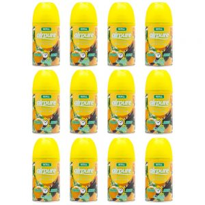 12 X Airpure Citrus Zing Refill Can Automatic Fragrance Air Freshener 250ml