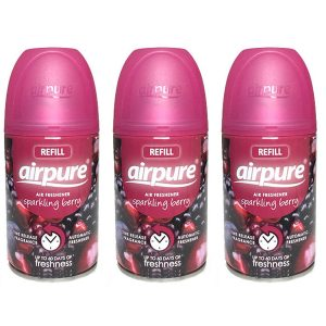 3 X Airpure Freshmatic Automatic Spray Refills 250ml Sparkling Berry Airwick Compatible