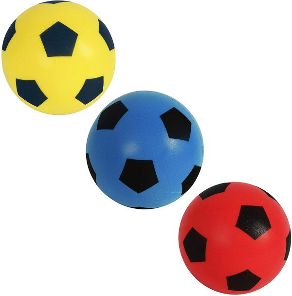 HTI Toys & Games Fun Sport 3x Size 5 Football Soft Sponge Foam Soccer Ball